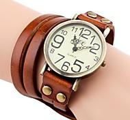 economico -Per donna Orologio braccialetto avvolgere l'orologio Analogico Quarzo Donne Orologio casual / Di similpelle trapuntata