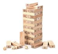 economico -legno 1 ~ 48 numero impostato blocchi jenga giocattolo
