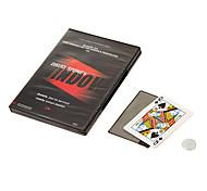 abordables -fenêtre en pierre david changer une carte à travers des accessoires de magie en verre avec dvd