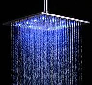abordables -contemporain Douche pluie Fileté Fonctionnalité - LED / Effet pluie, Pomme de douche