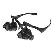 abordables -Loupes Loupe 10X/15X/20X/25X 1 pcs Niveau professionnel Lampe LED Plastique ABS Pour Garçon Fille