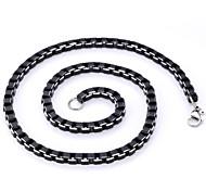 economico -Per uomo Collane a catena Acciaio inossidabile Acciaio al titanio Nero Collana Gioielli Per Regali di Natale