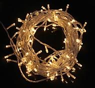 abordables -ZDM® 10m Guirlandes Lumineuses 100 LED LED Dip 1pc Blanc Chaud Blanc Froid Imperméable Décorative Décoration de mariage de Noël 220-240 V / IP65