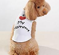 abordables -Chien Tee-shirt Lettre et chiffre Vêtements pour Chien Vêtements pour chiots Tenues De Chien Blanche Costume pour fille et garçon chien Coton XXS XS S M L