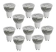 abordables -10pcs 4 W 350-400 lm GU10 Spot LED 4 Perles LED LED Haute Puissance Blanc Chaud / Blanc Froid / Blanc Naturel 85-265 V / 10 pièces / RoHs