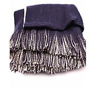 economico -Double Joker colore super-long double sciarpa di lavoro a maglia nappa m blu violaceo delle donne