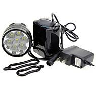 economico -LED Luci bici Luce posteriore per bici luci di sicurezza Cree® XM-L T6 Ciclismo da montagna Bicicletta Ciclismo Impermeabile Portatile Avvertenze Facile da applicare Solare 7000 lm Batteria
