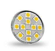 economico -1.5 W Faretti LED 130-150 lm GU4(MR11) MR11 12 Perline LED SMD 5050 Decorativo Bianco caldo 12 V / RoHs