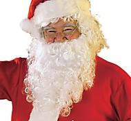 abordables -Costume de père noël Articles pour Célébrer Noël Adultes Homme Halloween Fête / Célébration Blanc + rouge. Homme Femme Facile Déguisement Carnaval Couleur Pleine / Serviette pour cheveux / Coiffure