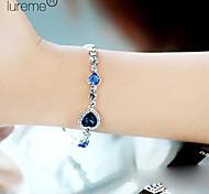 abordables -Bracelet de charme Femme Multirang Empilable Saphir Cristal Verseau dames Multicouches Bracelet Bijoux Bleu Roi pour Soirée Décontracté Quotidien Des sports