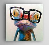 abordables -Peinture à l'huile Hang-peint Peint à la main Carré Pop Art Moderne Inclure cadre intérieur