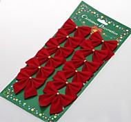 abordables -12 pcs arc noël arbre babioles décoration décoration de Noël arbre de Noël