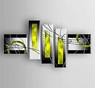 abordables -Peinture à l'huile Hang-peint Peint à la main Toute forme Abstrait Moderne Traditionnel Inclure cadre intérieur / Cinq Panneaux