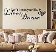 abordables -Personnages stickers muraux salon, pré-collé pvc décoration de la maison sticker mural 57 * 15cm