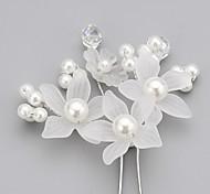 abordables -Cristal / Imitation de perle / Acrylique Diadèmes / Épingle à cheveux avec 1 Mariage / Occasion spéciale / Fête / Soirée Casque / Tissu / Alliage
