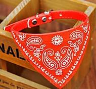 abordables -Chien Colliers Collier Bandana Ajustable / Réglable Bandanas faux cuir Noir Rouge Bleu Rose