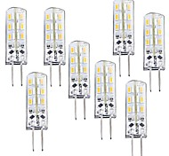 economico -8 pezzi 1 W LED a pannocchia 100-120 lm G4 T 24 Perline LED SMD 3014 Oscurabile Bianco caldo 12 V