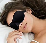 abordables -Masque de Sommeil de Voyage Ajustable Portable 3D Respirabilité Sans couture 1 set Voyage Éponge