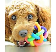 abordables -Balle Jouet interactif Jouet pour chien Jouet pour Chien Jouet qui Couine Caoutchouc Cadeau Jouet pour animaux de compagnie Jeu d'animaux
