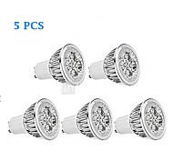 abordables -5pcs 4 W Spot LED 300 lm GU10 4 Perles LED LED Haute Puissance Intensité Réglable Blanc Chaud Blanc Froid 220-240 V 85-265 V / 5 pièces / RoHs