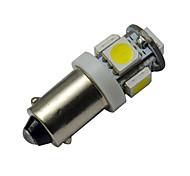 abordables -1pc 1w ba9s led ampoule d'instrument de voiture 5 smd 5050 ampoule froide froide 12v dc