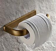 abordables -porte-papier toilette installation de trou en laiton antique étagère de toilette 1 pc pour hotela et bain mural