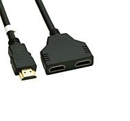 abordables -plaqué or HDMI v 1.4 mâle à double séparateur de adaptateur femelle HDMI