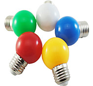 economico -5 pz colorato e27 1 w risparmio energetico 6 led lampadine globo lampada fai da te bianco verde giallo blu rosso colore luminoso ac220-240v