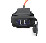 economico -Resistente all'acqua / All'aperto 2 porte USB Solo caricabatterie 5 V / 3.1 A