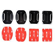 economico -2x base piatta e 2x supporti curvi con cuscinetti adesivi 3m per GoPro eroe 4/3 + / 3/2/1 / sj4000 / sj5000 / sj6000