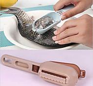 abordables -couvercle en peau de poisson grattant la brosse en écailles de poisson, retirez rapidement les gadgets de cuisine