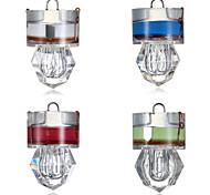 abordables -4pcs Lampe de Pêche LED Blanc Rouge Bleu Vert ABS Sous-marin Style diamant Pêche 200-500 m
