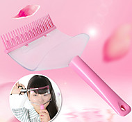 abordables -coiffure frange outils de coiffage des cheveux coupés partisan peigne Bang outil de coupe (couleur aléatoire)