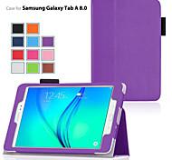 economico -telefono Custodia Per Samsung Galaxy Tab A 8.0 Tab A 9.7 Integrale Con supporto Con chiusura magnetica Tinta unita pelle sintetica