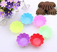 abordables -un ensemble de 10 coloré fleur de prunier ensemble muffin petit gâteau en forme de moule (couleur aléatoire)