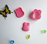 abordables -ours lapin chat sushi ensemble de moule de 3 outil de machine à bento bricolage en plastique