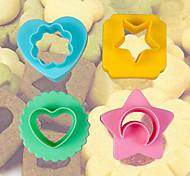 abordables -en forme de lune cœur étoile de folower biscuits matrices de coupe ensemble de 4 boulangerie pâtisserie bricolage moule ensemble