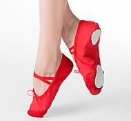 abordables -Femme Chaussures de Ballet Plate Talon Plat Noir Blanc Rouge Elastique Enfant / Cuir