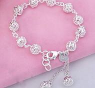 abordables -Breloque Charms Bracelet Bracelet à Perles Femme Franges Sculpture Cristal Argent sterling Boule dames Mode Bracelet Bijoux Argent pour Soirée Quotidien Sports