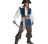 abordables -Déguisement Halloween Homme Pirate Costume de Cosplay Halloween Carnaval Coton Costumes Carnaval / Gilet / Haut / Pantalon / Ceinture / Jambières