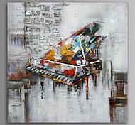 abordables -Peinture à l'huile Hang-peint Peint à la main Carré Nature morte Loisir Musique Inclure cadre intérieur
