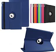 abordables -téléphone Coque Pour Coque Intégrale iPad Pro 12,9 pouces Rotation à 360 ° Avec Support Origami Couleur Pleine faux cuir