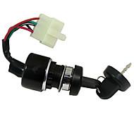 abordables -accessoires d'allumage de moto interrupteur à clé d'allumage à 5 broches pour utv go kart atv 150 250cc
