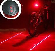 abordables -Laser LED Eclairage de Velo - Eclairage de Vélo / bicyclette Lanternes de camping et lampes de tente Eclairage de Vélo Arrière VTT Vélo tout terrain Vélo Cyclisme AAA Résistant aux impacts Lampe LED