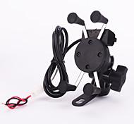 economico -nuovo 12v x-presa portacellulare moto motorino culla, 5v 2.1A caricabatteria da auto usb per il iphone smartphone samsung