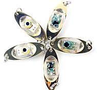 abordables -5pcs Lampes Torches LED Bandes Lumineuses LED Rigides LED RGB Blanc Rouge Bleu Vert Métallique Imperméable Pêche 200-500 m