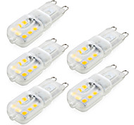 abordables -ywxlight® 5pcs dimmable g9 4w 300-400 lm led lumières bi-broches 14 leds smd 2835 blanc chaud blanc froid naturel blanc ca 220v