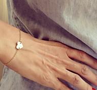 abordables -Bracelet de charme Femme Cœur Amour Délicatesse dames simple Mode Style Simple Délicat Bracelet Bijoux Doré Argent pour Regalos de Navidad Soirée Décontracté Quotidien