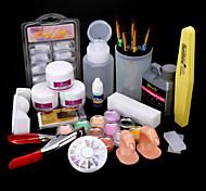 abordables -24 pcs acrylique nail kits bricolage pour débutant punk nail art outil professionnel bricolage à la maison base acrylique nail art toolsuv gel nail art kit pour doigt