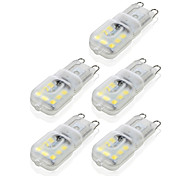 abordables -5 pièces 4 W LED à Double Broches 300-400 lm G9 T 14 Perles LED SMD 2835 Intensité Réglable Décorative Blanc Chaud Blanc Froid 220-240 V